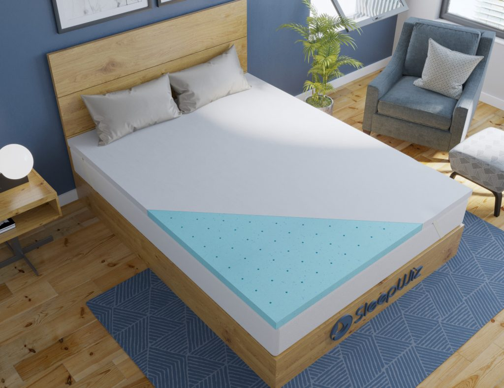 memory foam mattress topper gel ergolush_top