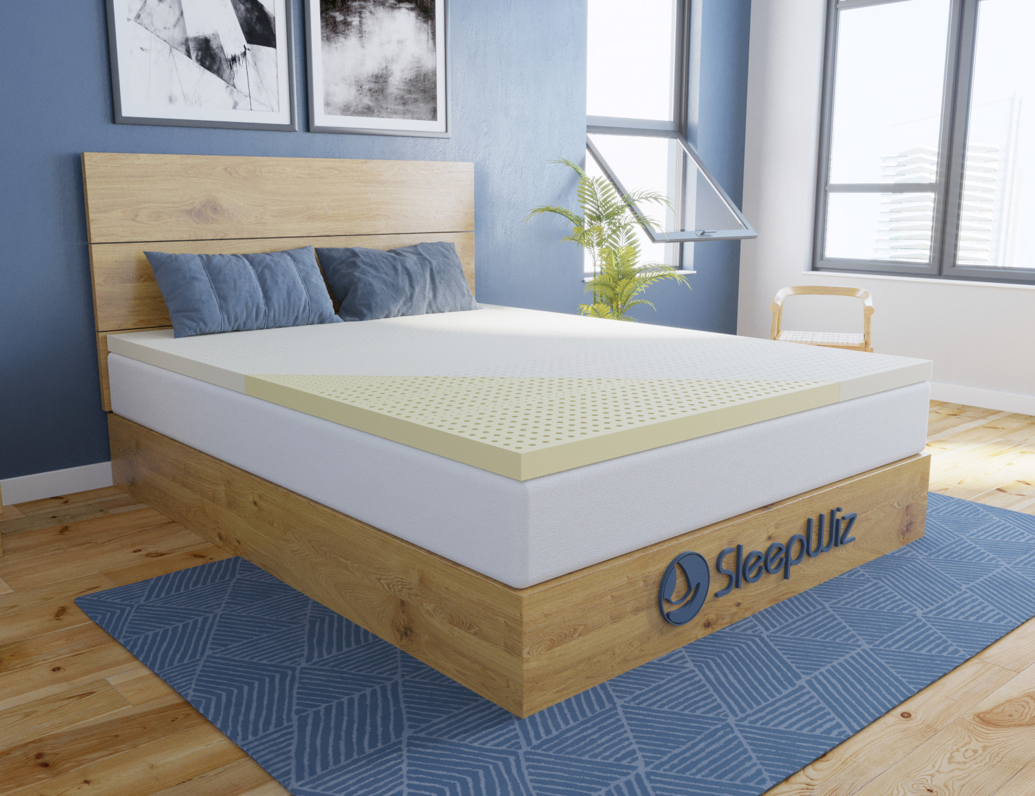 latex mattress topper natural herculean profile