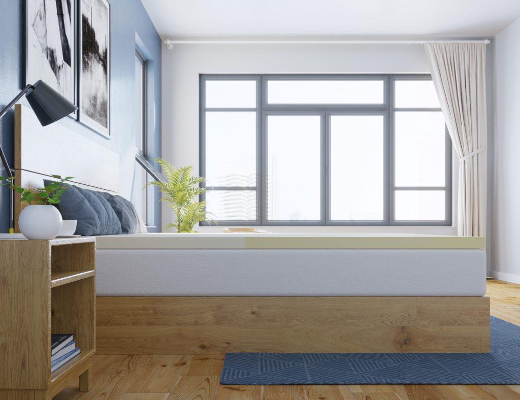 latex mattress topper natural herculean side